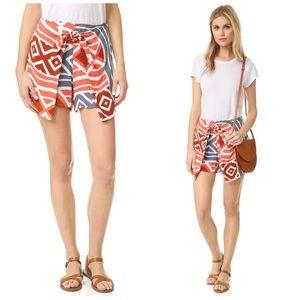 ELLA MOSS Shorts Luanda Tie Front Printed Short